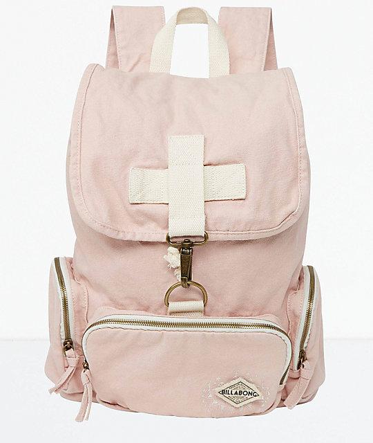 Billabong Heart At Home Light Pink Backpack