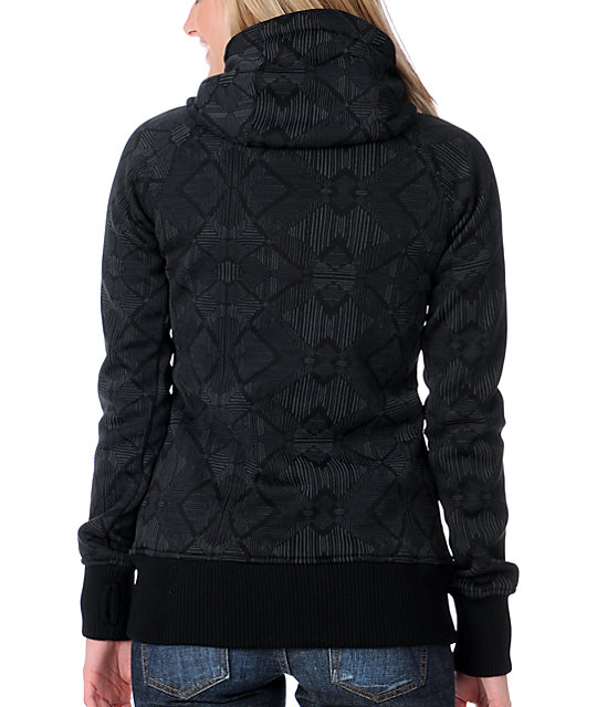 Billabong Holly Black Tech Fleece Jacket