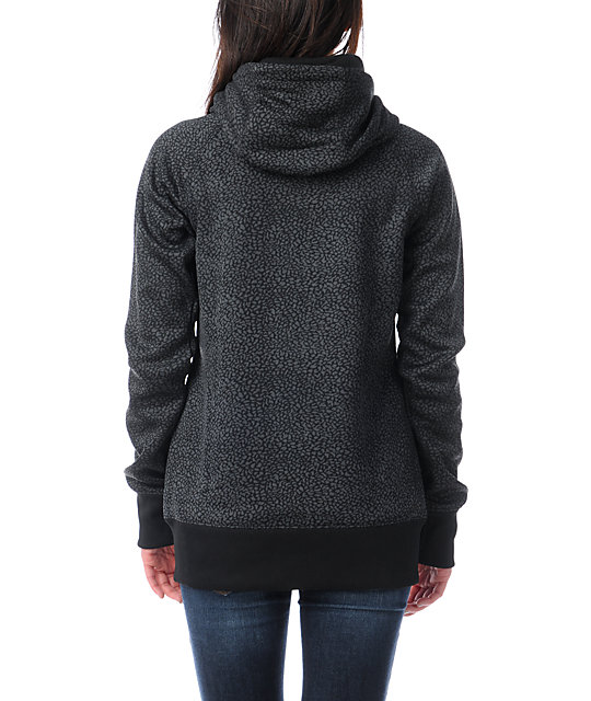 Billabong Holly Full Zip Black Tech Fleece Jacket