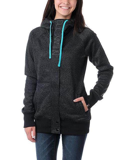 Billabong Holly Full Zip Black Tech Fleece Jacket