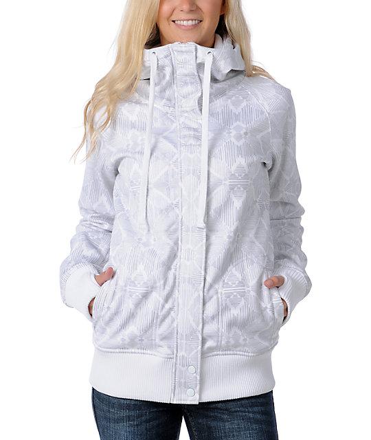 Billabong Holly White Tech Fleece Jacket