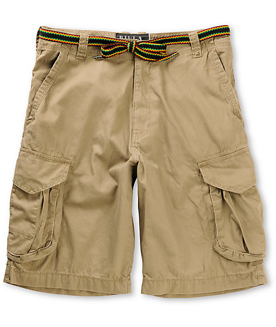 Billabong Imperial Rasta Belt Khaki Cargo Shorts
