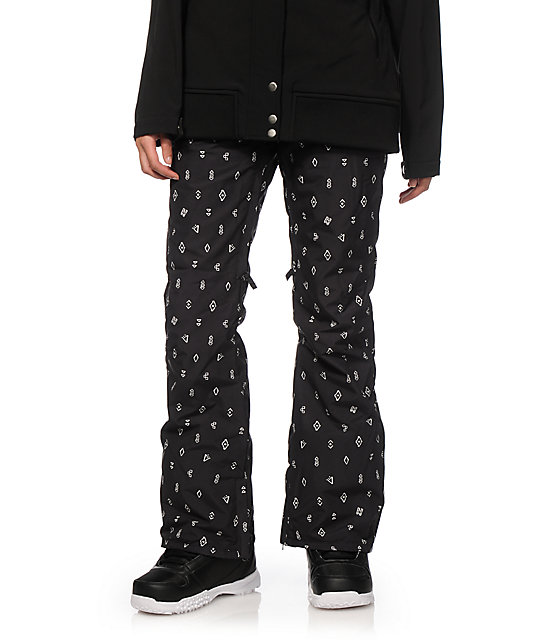 Billabong Iris Black Print 10K Snowboard Pants