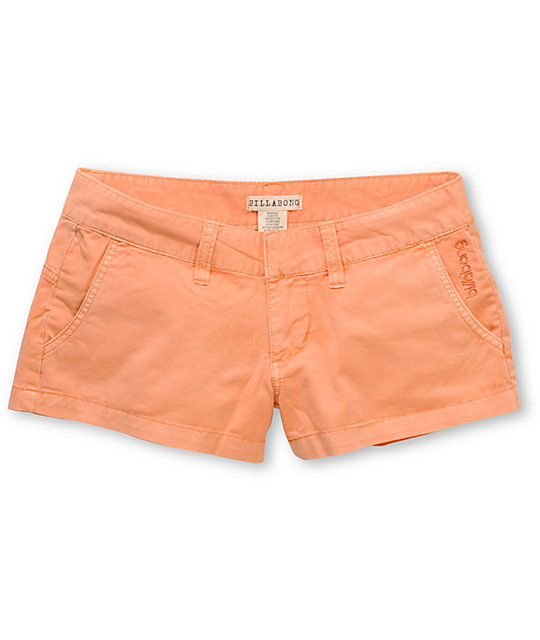 Billabong Keep On Peach Canvas Twill 2 Shorts