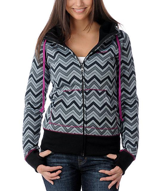 Billabong Linger Black Tech Fleece Jacket
