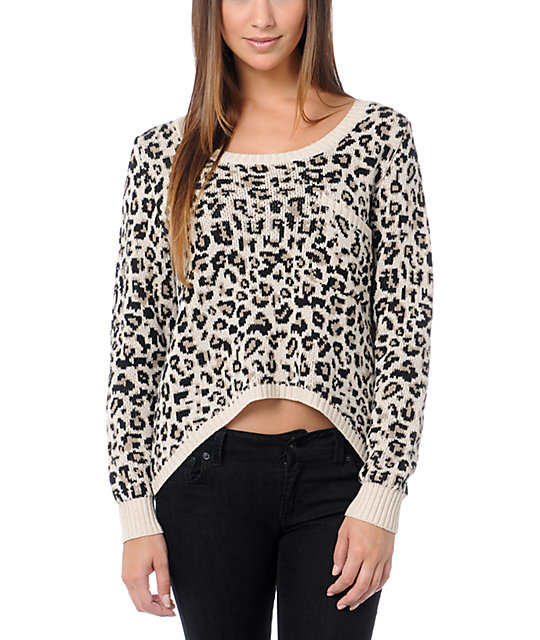 Billabong Liv For Luv Cheetah Sweater