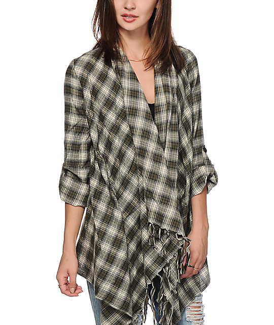 Billabong flannel cardigan gray cardigan sweater for Places to buy flannel shirts