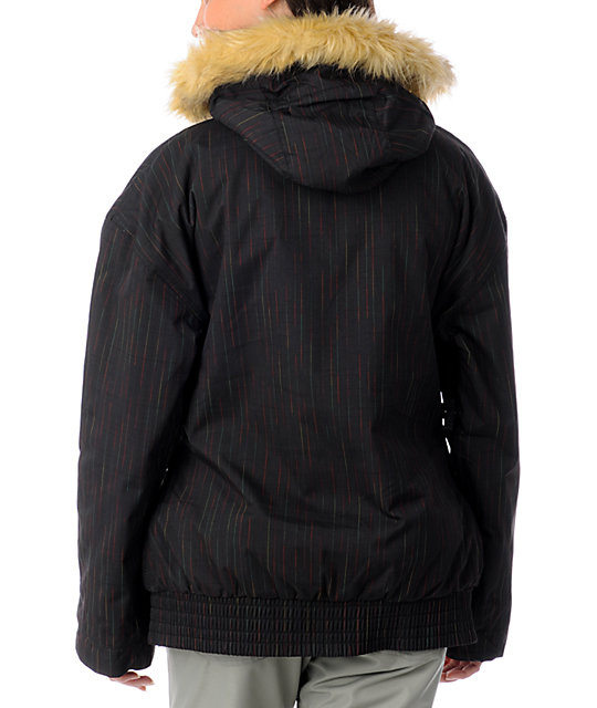 Billabong Lotus Black Pinstripe Snowboard Jacket