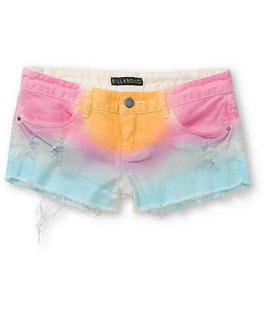 Billabong Lovin Life Tie Dye Cut Off Shorts