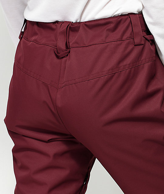 Billabong Malla Burgundy 10K Snowboard Pants