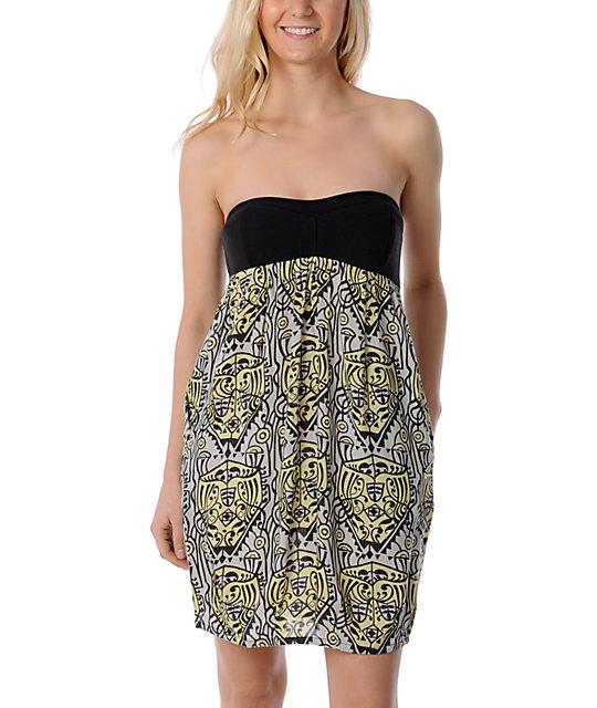 Billabong Moanna Strapless  Zipper Dress