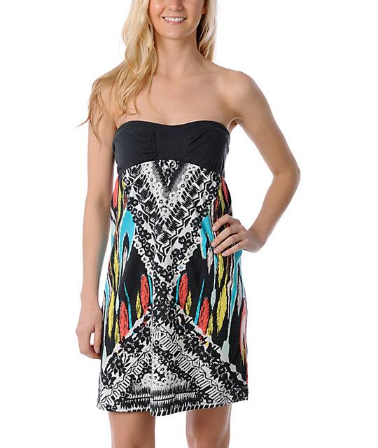 Billabong Moxie Bandeau Strapless Dress