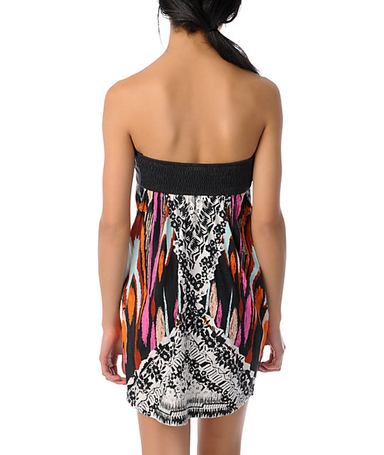 Billabong Moxie Black Strapless Dress