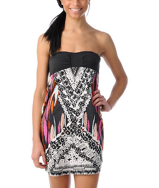 Billabong Moxie Black Strapless Dress