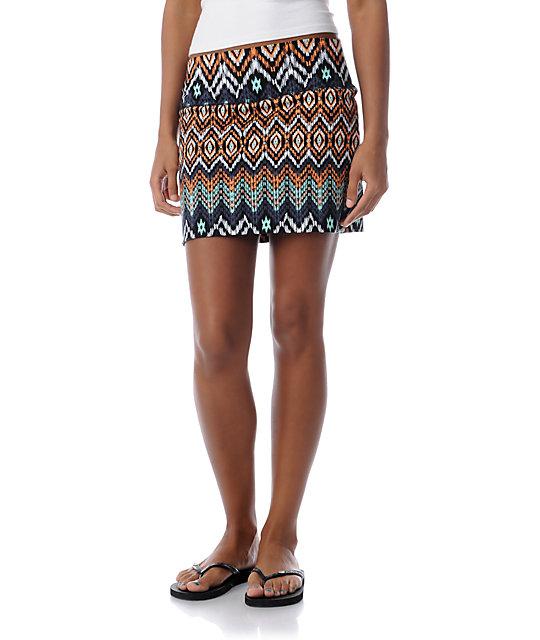 Billabong Nights Free Black Mini Skirt