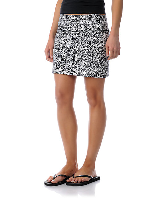 Billabong Nights Free Cheetah Print Mini Skirt