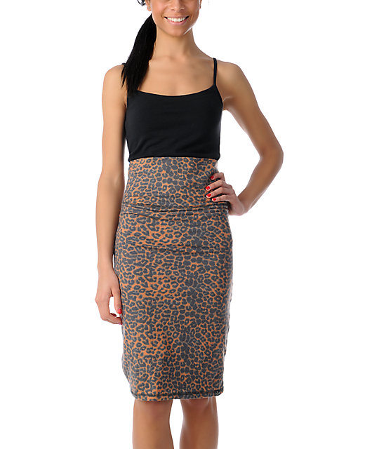 Billabong Once Was Animal Print Body Con Dress