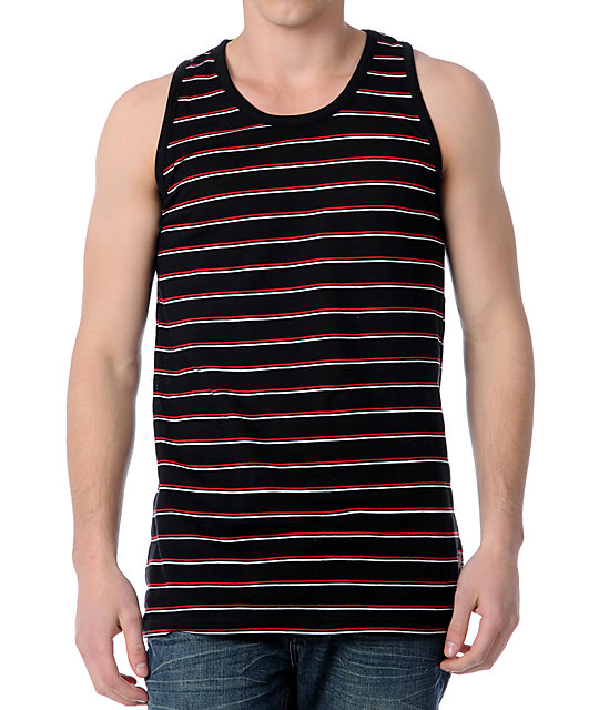 Billabong Open House Black Mesh Tank Top