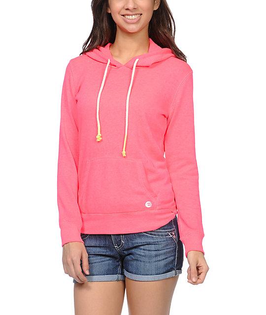 Billabong Open Roadz Neon Pink Pullover Hoodie