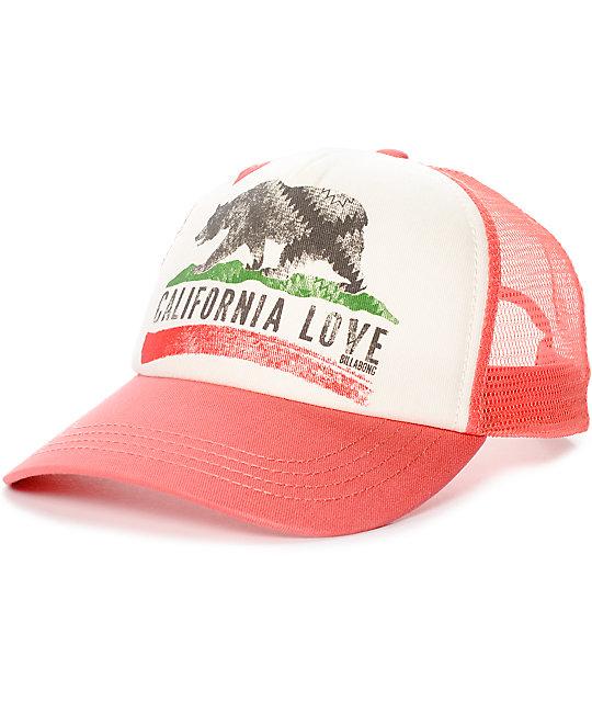 Billabong Pitstop Coral Snapback Hat