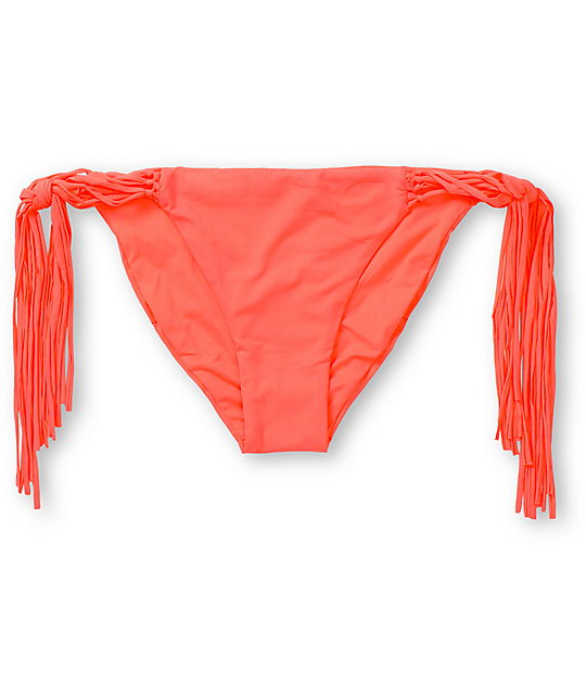 Billabong Sammy Neon Coral Side Tie Bikini Bottom