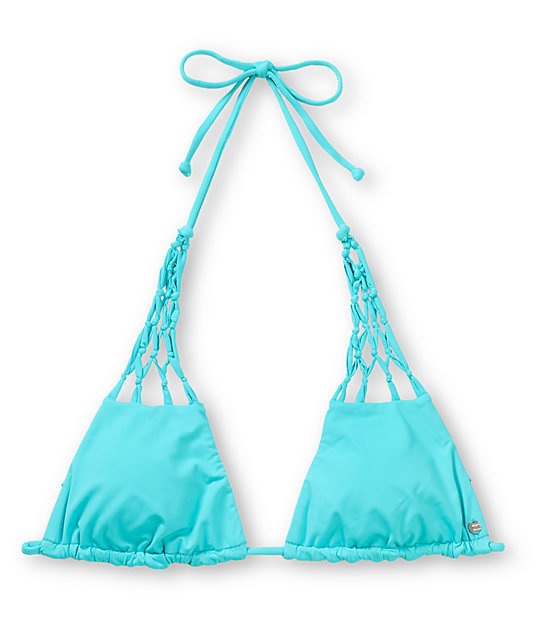 Billabong Sammy Teal Triangle Bikini Top