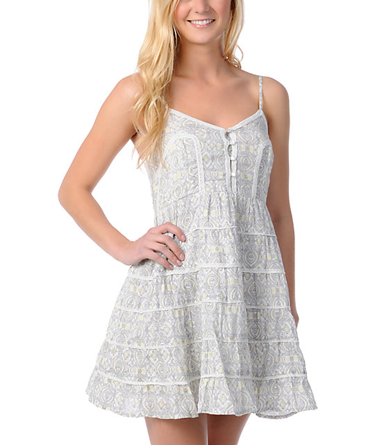 Billabong Serenity Floral Print Woven Dress