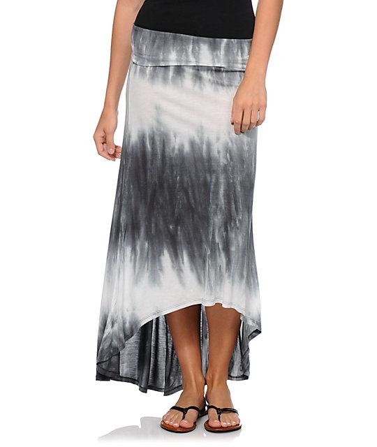 billabong skirt away tie dye maxi skirt