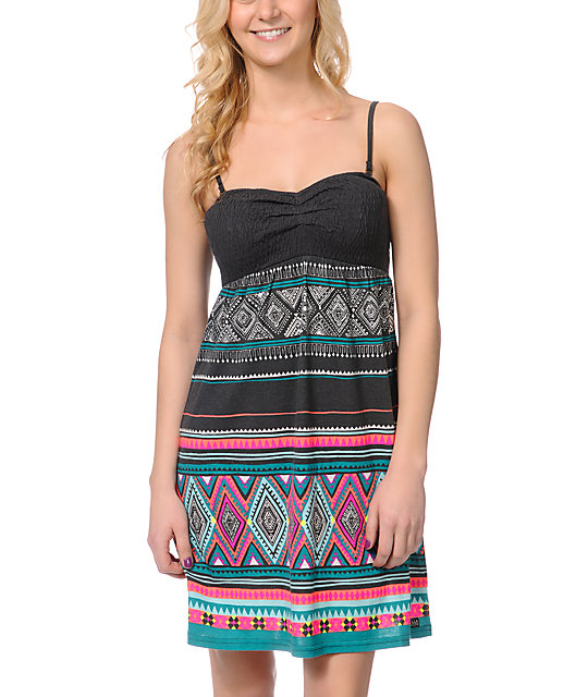 Billabong Slowly Cruzin Bandeau Strapless Dress