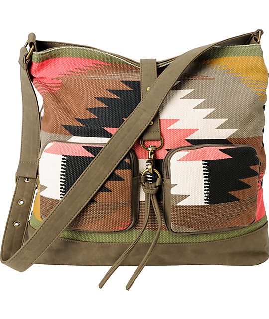 Billabong So Far Tribal & Stripe Large Shoulder Bag