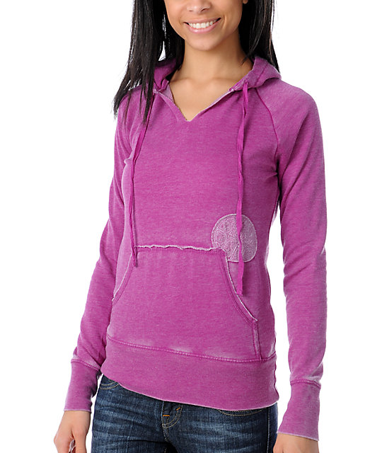 Billabong Softly Spoken Magenta Pullover Hoodie