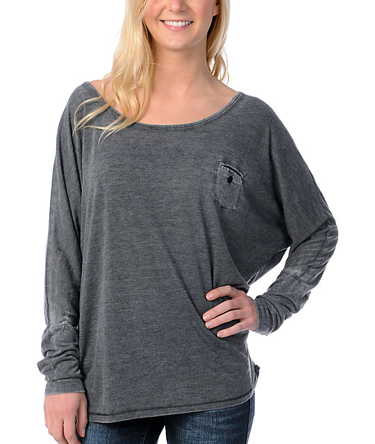Billabong Solicitor Grey Dolman Top