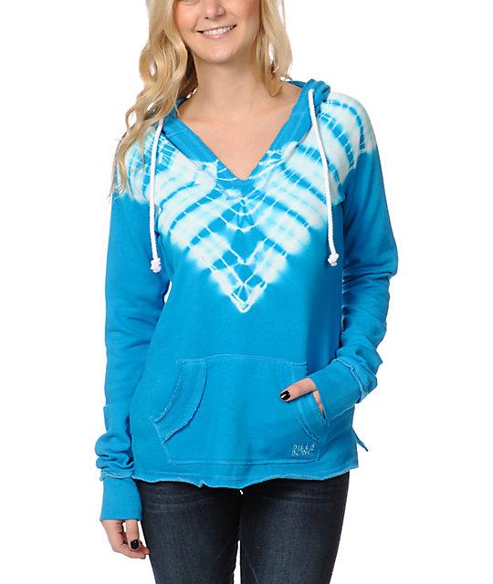 Billabong Spring Heat Blue Tie Dye Pullover Hoodie