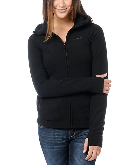 Billabong Stef Black Polar Tech Fleece Jacket