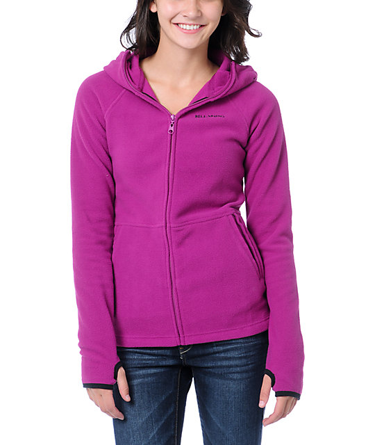 Billabong Stef Pink Polar Tech Fleece Jacket