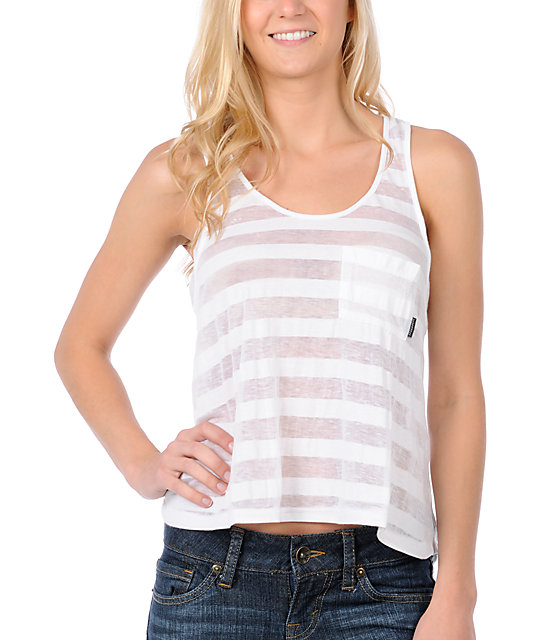 Billabong Striped White Glory Tank Top
