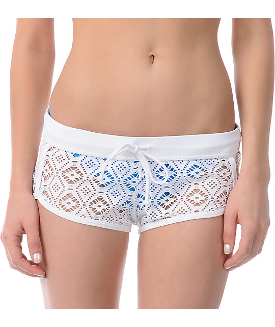 Billabong Sun Lover White Crochet Shorts