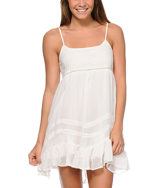 Billabong Sweet All Over White Dress