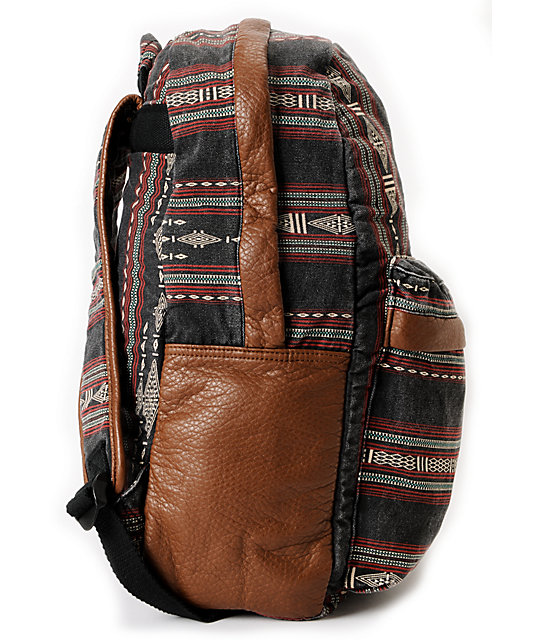 Billabong Take Me With You Brown Tribal Print Backpack
