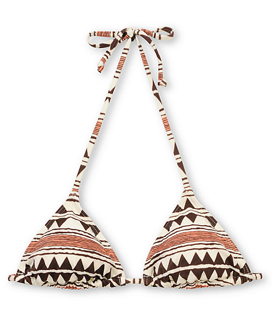 Billabong Tribal Town Kellie Triangle Bikini Top