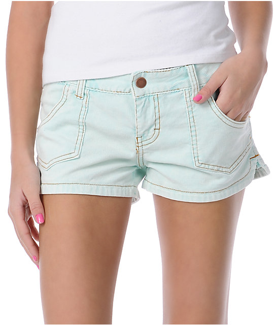 Billabong Walk On Light Blue Corduroy Shorts