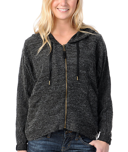 Billabong Wicked Ways Black Zip Up Hoodie