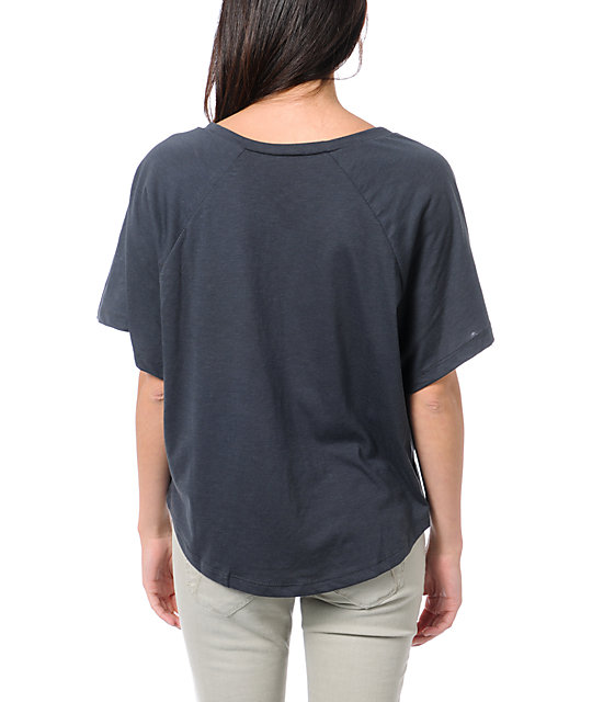 Billabong Wild & Fast Black V-Neck T-Shirt