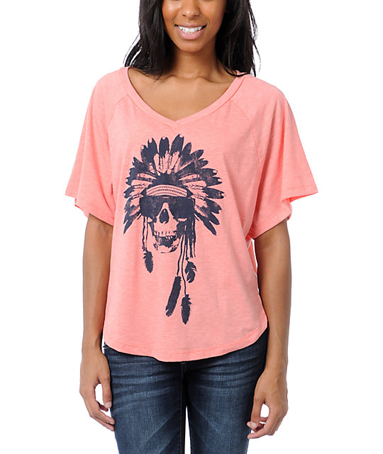 Billabong Wild & Fast Coral V-Neck T-Shirt