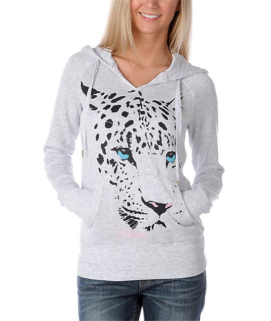 Billabong Wild One Leopard Grey Hoodie