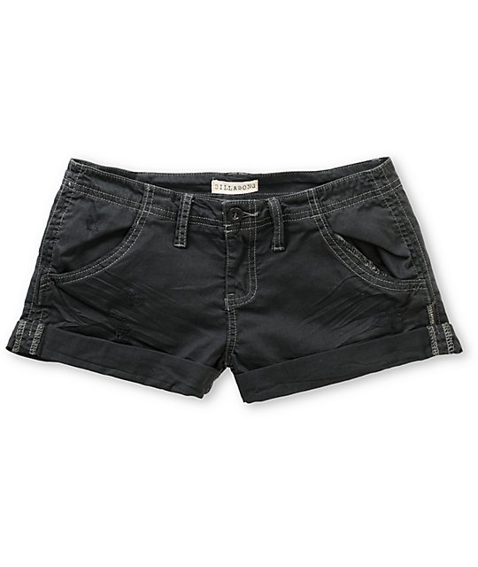 Billabong Ziron Charcoal Cuffed Twill Shorts