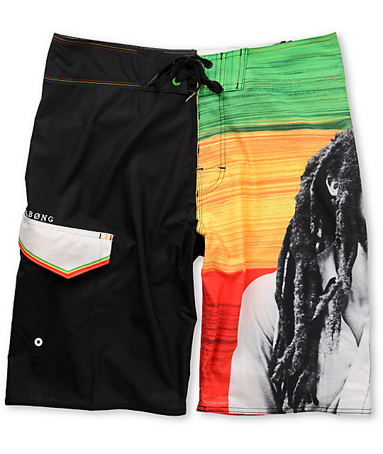 Billabong x Bob Marley Buffalo Solider Rasta Board Shorts