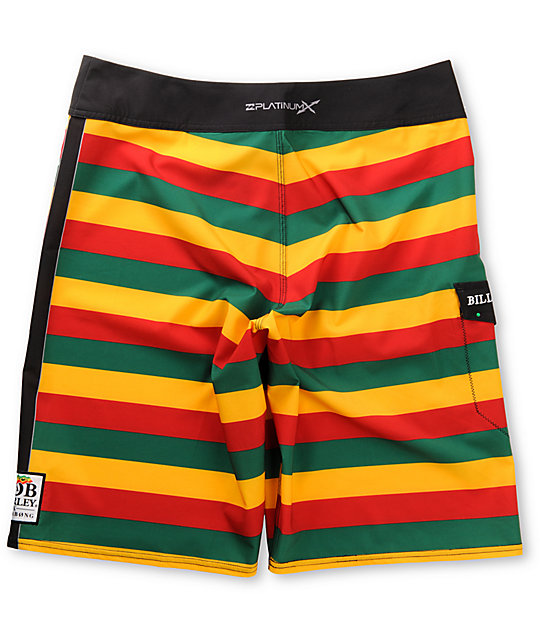 Billabong x Bob Marley Exodus Rasta Stripe Board Shorts
