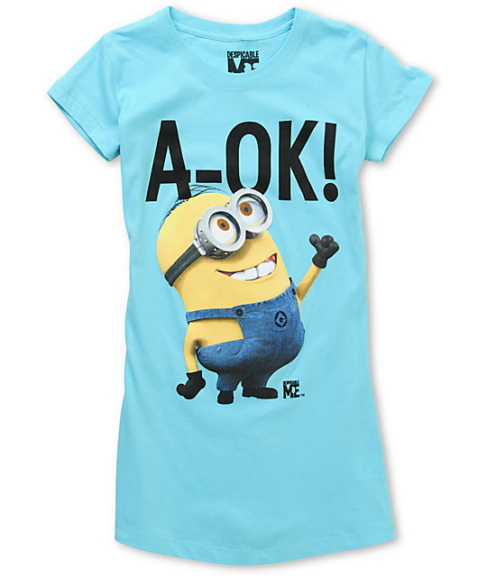 Bitter Sweet A-Ok! Despicable Me Turquoise T-Shirt