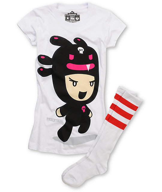 Bitter Sweet Big Nao Mee Zoodorable T-Shirt & Tube Socks Pack